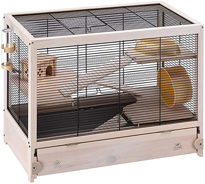 cage pour hamster en bois