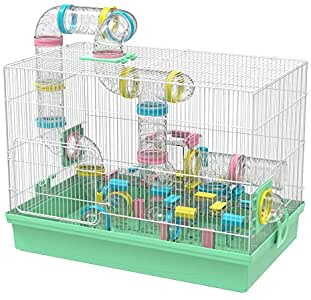 cage avec tubes hamster russe